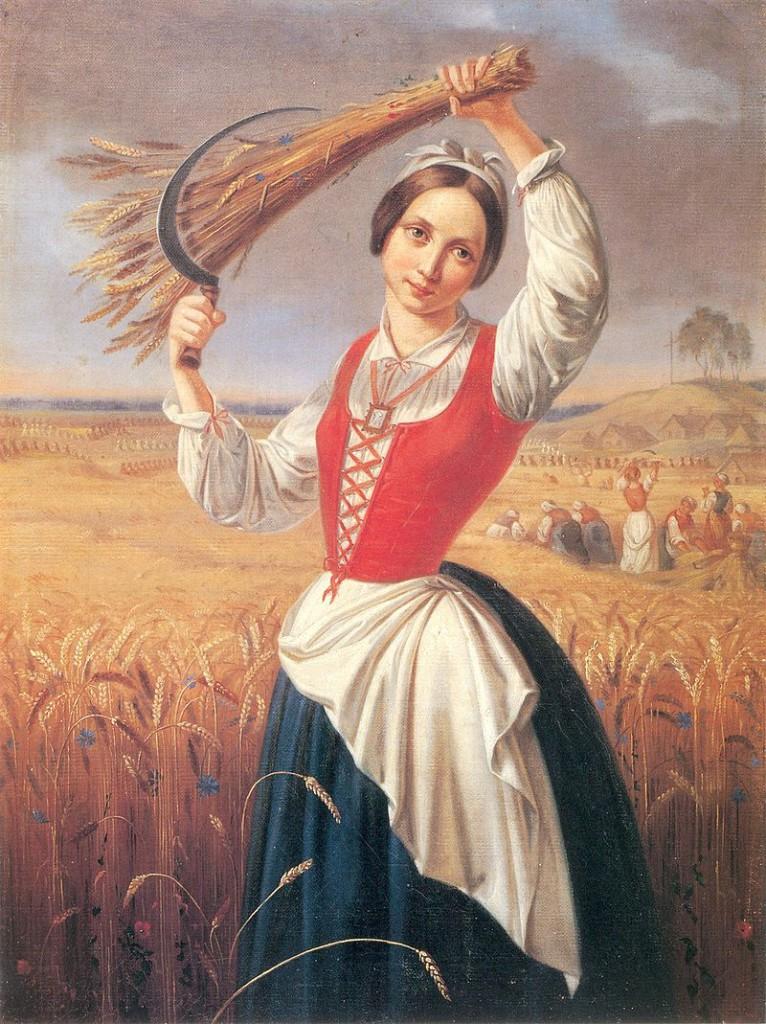 Kanuty Rusiecki, Żniwiarka (1844).