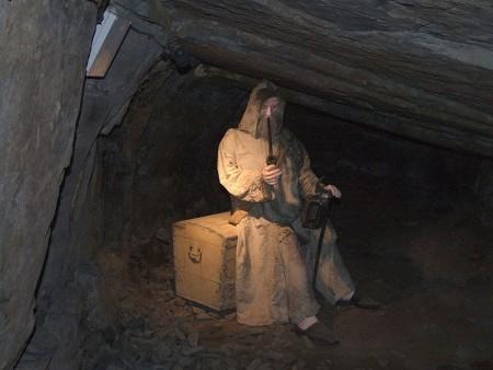 Skarbnik w skansenie Guido w Zabrzu. Autor zdjęcia: Krystian Hasterok