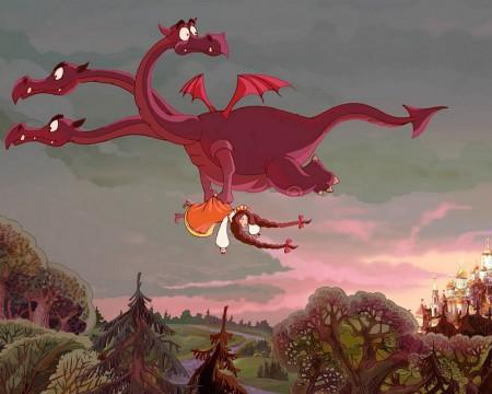 Kadr z filmu animowanego Dobrynia Nikiticz i Żmij Gorynycz, produkcja Melnitsa Animation Studio ©
