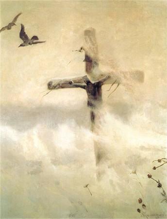 Józef Chełmoński, Krzyż w zadymce