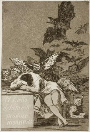 Francisco Goya, El sueño de la razón produce monstruos.