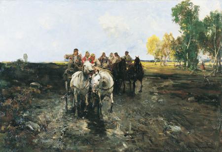 Alfred Wierusz-Kowalski, Orszak weselny