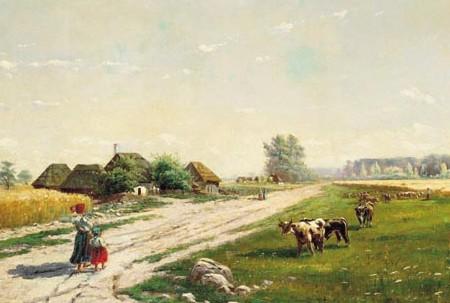 Teofil Zaleski, Pejzaż wiejski