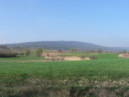 Widok na Łysą Górę ze Starej Słupi